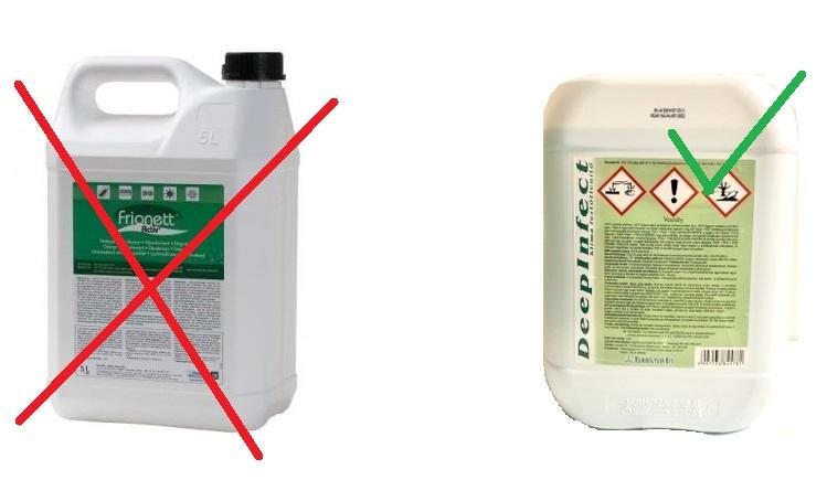 Nem minden vegyszer rendelkezik biocid engedéllyel.